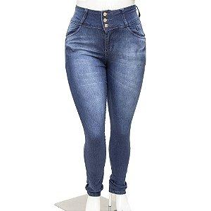 Calça Jeans Feminina Plus Size Meitrix Azul com Cintura Alta
