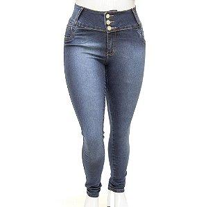 Calça Jeans Feminina Legging Credencial Plus Size Escura Cintura Alta