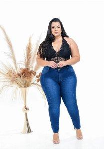 Calça Jeans Latitude Plus Size Skinny Lucine Azul