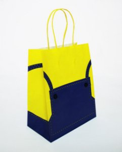SACOLA DE PAPEL MINI BAG 18X22