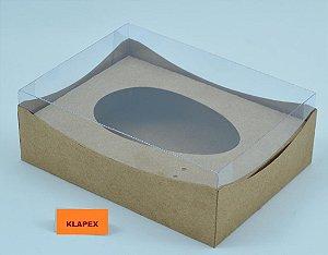 CAIXA KRAFT C/ CUPULA 1/2 OVO DE COLHER  500 GR