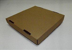CAIXA P/ SALGADO/DOCE TAMPA E FUNDO 20X20X5 - PARDA C/ 500 UNIDADES