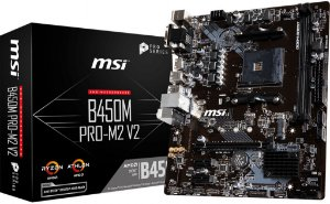 PLACA-MÃE MSI B450M PRO-M2 V2 PRO SERIES AMD AM4 DDR4