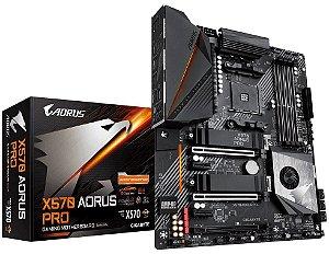PLACA-MÃE GIGABYTE X570 AORUS PRO AMD AM4 SLI ATX
