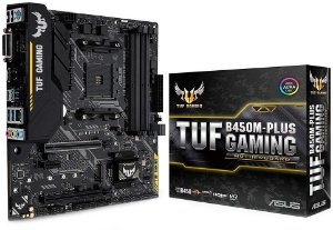 PLACA-MÃE ASUS TUF B450M-PLUS GAMING AURA CROSSFIRE AMD AM4