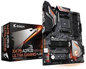 PLACA-MÃE GIGABYTE X470 AORUS ULTRA GAMING AMD AM4 DDR4
