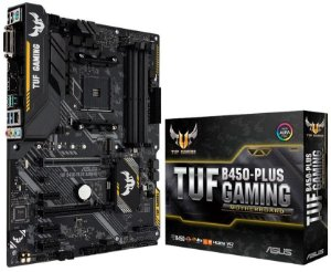 PLACA-MÃE ASUS TUF B450-PLUS GAMING AURA CROSSFIRE AMD AM4 DDR4