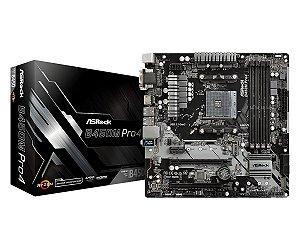 PLACA-MÃE ASROCK B450M PRO4 CROSSTIFE AMD AM4 DDR4