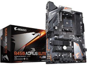 PLACA-MÃE GIGABYTE B450 AORUS ELITE RGB AMD AM4 DDR4