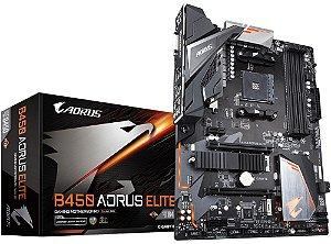 PLACA-MÃE GIGABYTE B450 AORUS ELITE RGB AMD AM4 DDR4
