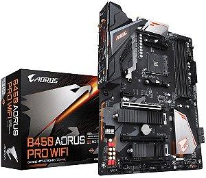 PLACA-MÃE GIGABYTE B450 AORUS PRO WIFI AMD AM4 DDR4