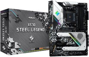 PLACA-MÃE ASROCK X570 STEEL LEGEND CROSSFIRE AM4 PCI-E 4.0
