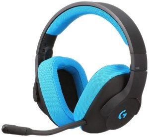 HEADSET GAMER LOGITECH G233 PRETO AZUL PC CONSOLE 981-000702