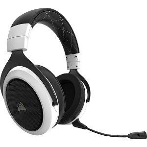 HEADSET GAMER CORSAIR HS70 7.1 WIRELESS WHITE USB CA-9011177-NA
