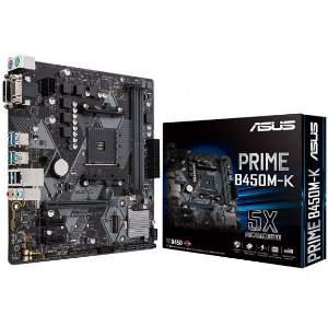 PLACA-MÃE ASUS PRIME B450M-K AMD AM4 DDR4 MATX