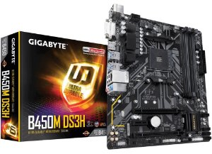 PLACA-MÃE GIGABYTE B450M DS3H RGB FUSION AMD AM4 DDR4