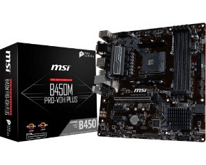 PLACA-MÃE MSI B450M PRO-VDH PLUS AMD AM4 DDR4 MATX