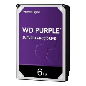 HD WD PURPLE SURVEILLANCE DVR 6TB 5400RPM 64MB WD60PURZ