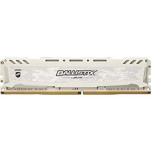 MEMÓRIA CRUCIAL BALLISTIX SPORT 8GB 2666MHZ DDR4 WHITE