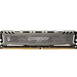 MEMÓRIA CRUCIAL BALLISTIX SPORT 8GB 2666MHZ DDR4 GREY