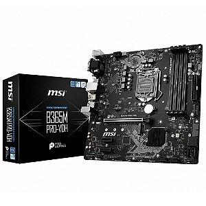 PLACA-MÃE MSI B365M PRO-VH INTEL LGA 1151 DDR4 MATX