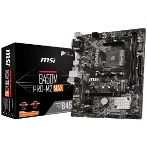 PLACA-MÃE MSI B450M PRO-M2 MAX AMD AM4 DDR4