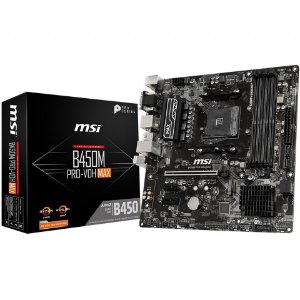 PLACA-MÃE MSI B450M PRO-VDH MAX AMD AM4 DDR4