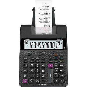Calculadora com Bobina 12 Dígitos Bivolt HR-100RC Preta CAS