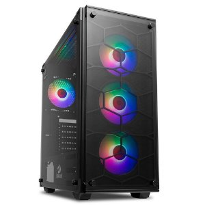GABINETE GAMER REDRAGON WHEEL JACK RGB MID TOWER GC-606BK-RGB