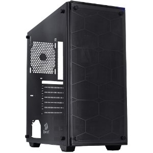 GABINETE GAMER REDRAGON WHEEL JACK BLACK MID TOWER GC-606BK