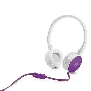 Fone de Ouvido Dobrável H2800 Roxo/Branco HP