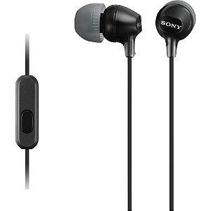 Fone de Ouvido Intra-Auricular com Microfone MDR-EX15AP Pret