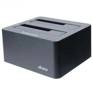 DOCK AKASA DUODOCK X3 SATA USB 3.1 3,5 2,5 AK-DK08U3-BK