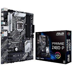 PLACA-MÃE ASUS PRIME Z490-P INTEL LGA 1200 DDR4