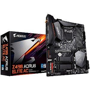 PLACA-MÃE GIGABYTE Z490 AORUS ELITE AC WIFI INTEL LGA 1200 DDR4