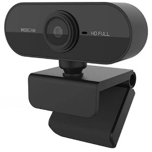 Webcam Full Hd 1080 Usb Mini Visão 360º Com Microfone Ahz