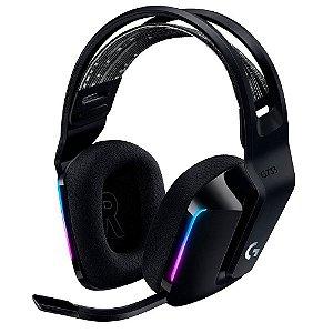 Headset Gamer Sem Fio Logitech G733 Rgb Lightsync 7.1 Preto