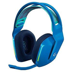 Headset Gamer Sem Fio Logitech G733 Rgb Lightsync 7.1 Azul