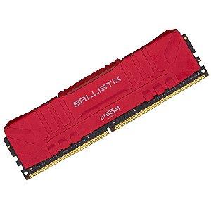 Memória Crucial Ballistix 16gb 3200mhz Ddr4 Vermelha