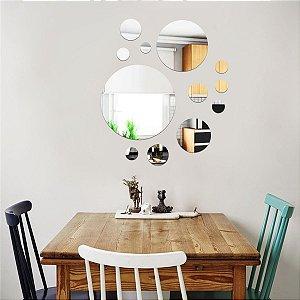 Conjunto decorativo em Acrílico Espelhado - Rotondo