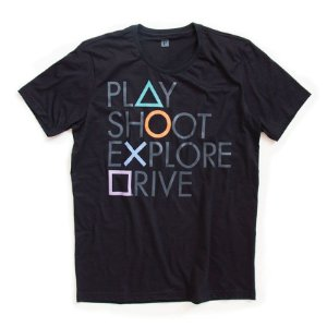 Camiseta Playstation Botões