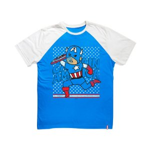 Camiseta Infantil Capitão América Cartoon