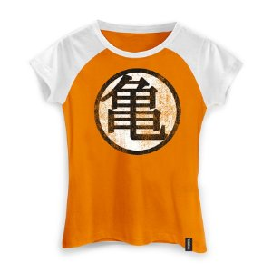 Camiseta Feminina Dragon Ball Kame Symbol