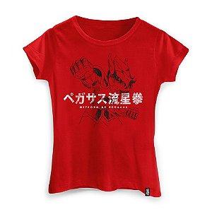 Camiseta Feminina Cavaleiros do Zodíaco Golpe Seiya