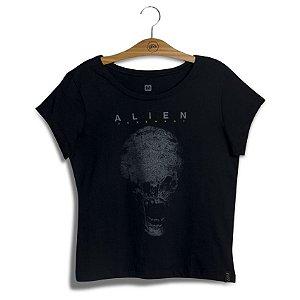 Camiseta Feminina Alien Skull