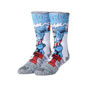 Meia Stance Marvel Captain America Comic