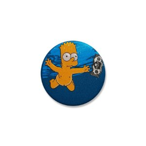 Botton Simpsons Bart Nevermind