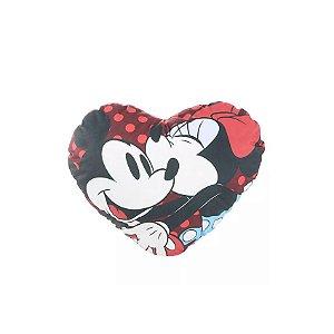 Almofada Coração Mickey e Minnie