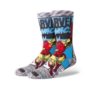 Meia Stance Marvel Iron Man Comic