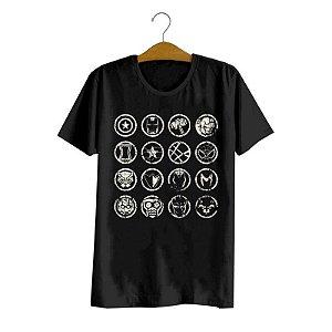 Camiseta Vingadores Símbolos